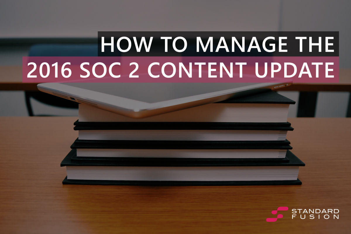 How to manage the 2016 SOC 2 Content Update