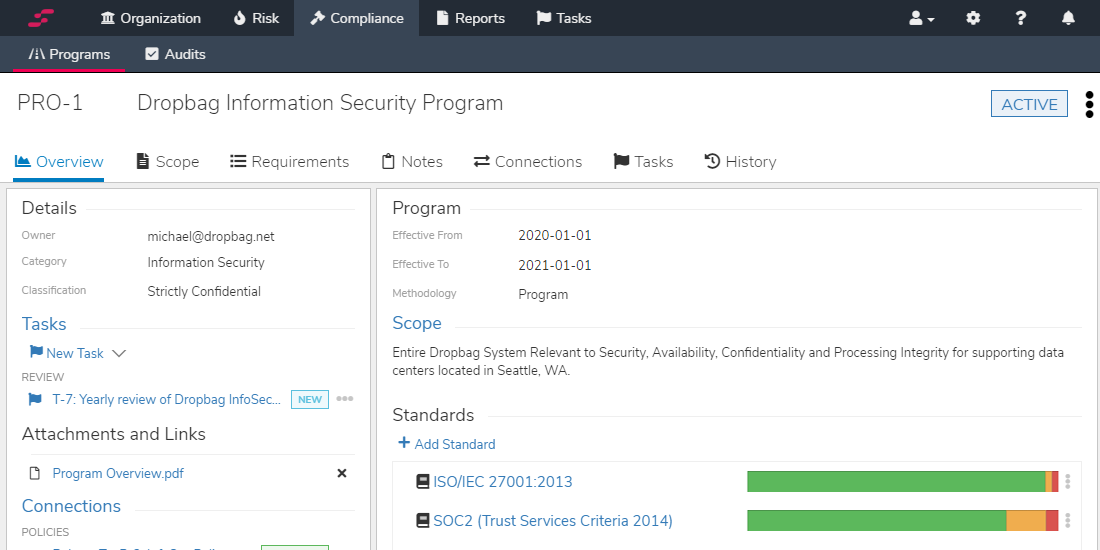 SOC 2 Information Security Report Generator Screenshot